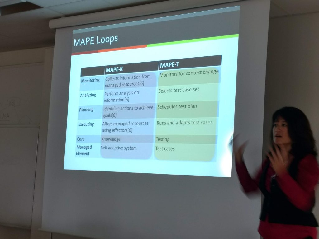 """The workshop started with a keynote by Betty H.C. Cheng from the Michigan State University on """"A Requirements-Driven and Context-Aware Approach to Assurance of Autonomous Systems""""."""