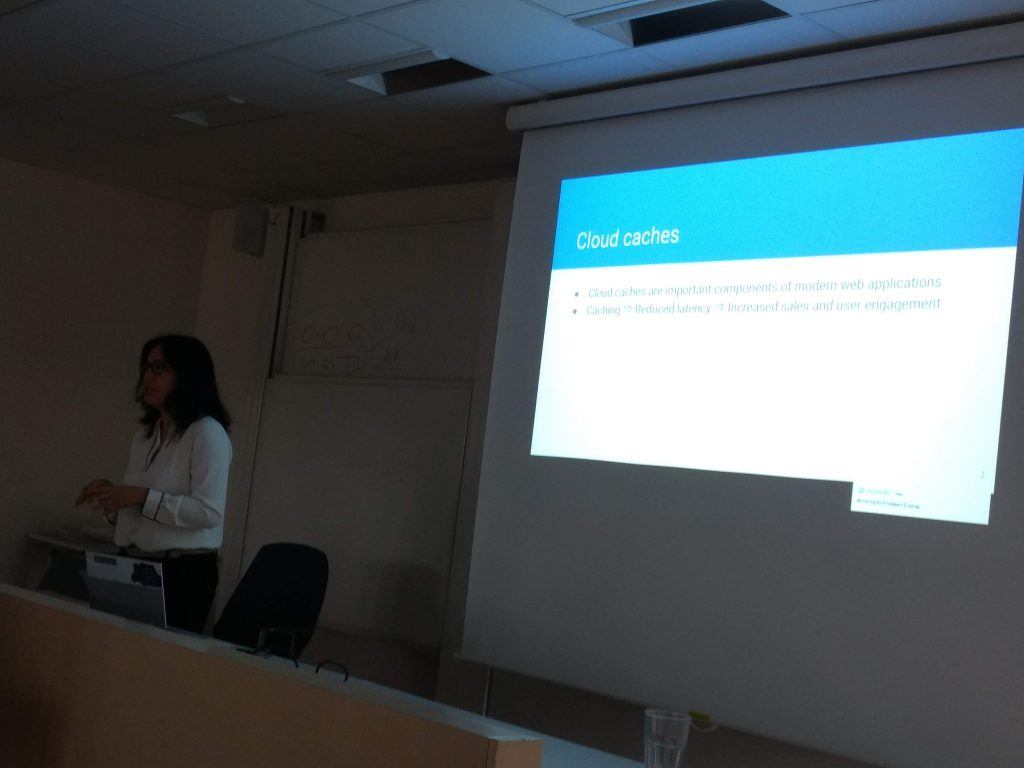 """Cristina Abad from the Escuela Superior Politécnica del Litoral focused cloud caches in her presentation """"Optimizing Cloud Caches For Free: A Case for Autonomic Systems with a Serverless Computing Approach"""""""